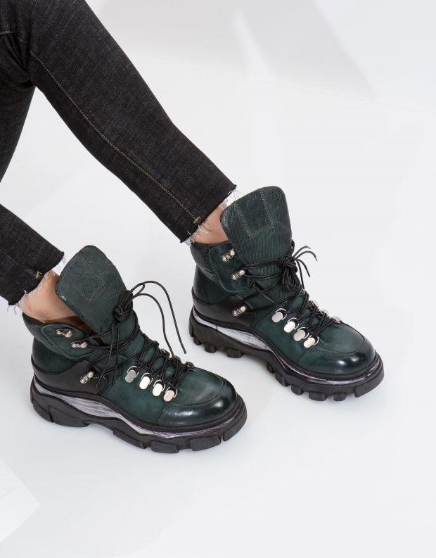 נעלי נשים - A.S. 98 - מגפון MATERIA שרוך - ירוק