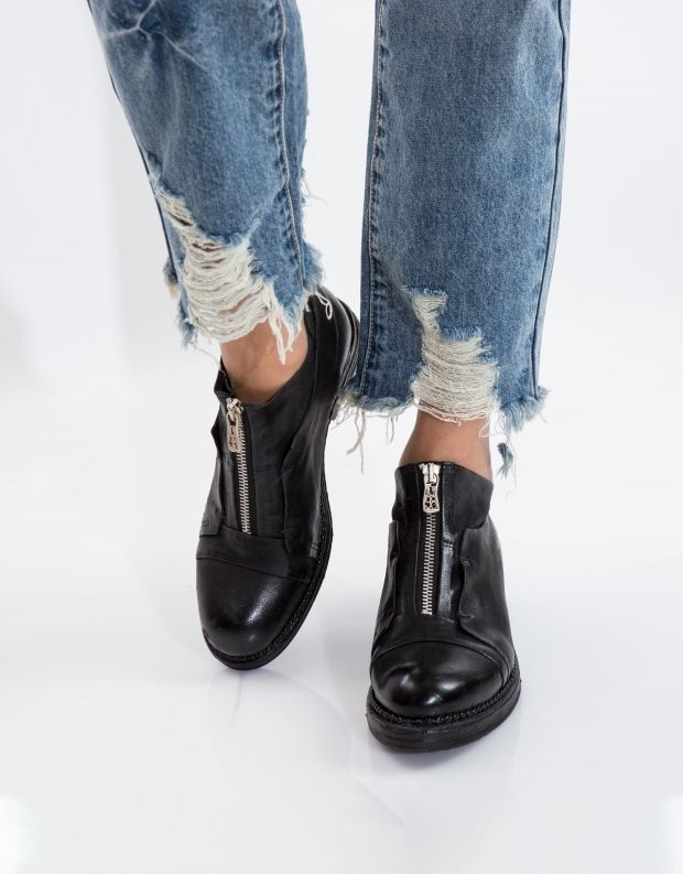 נעלי נשים - A.S. 98 - נעל VERTI רוכסן - שחור