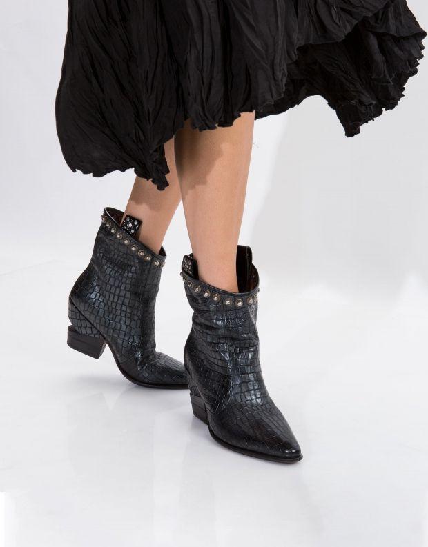 נעלי נשים - A.S. 98 - מגפון TINGET מיוחד - שחור קרוקו