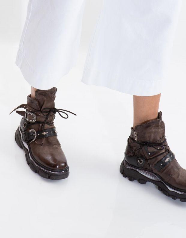 נעלי נשים - A.S. 98 - מגפון MATERIA רצועות - אפור
