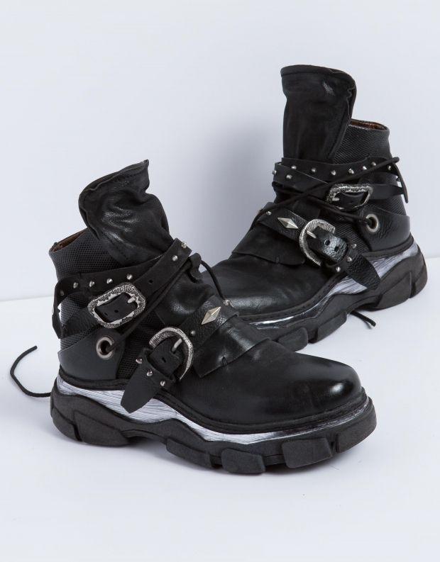 נעלי נשים - A.S. 98 - מגפון MATERIA רצועות - שחור