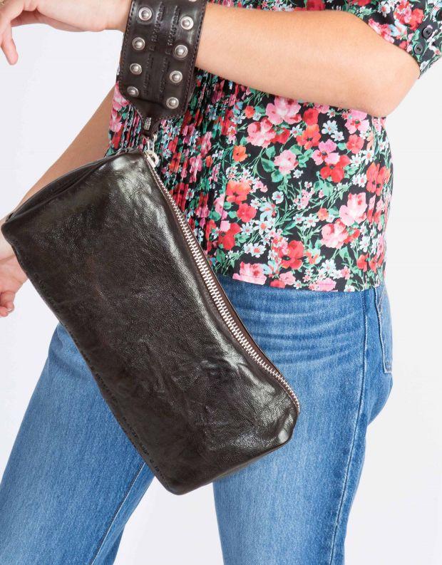 נעלי נשים - A.S. 98 - תיק קלאטצ' גדול - שחור