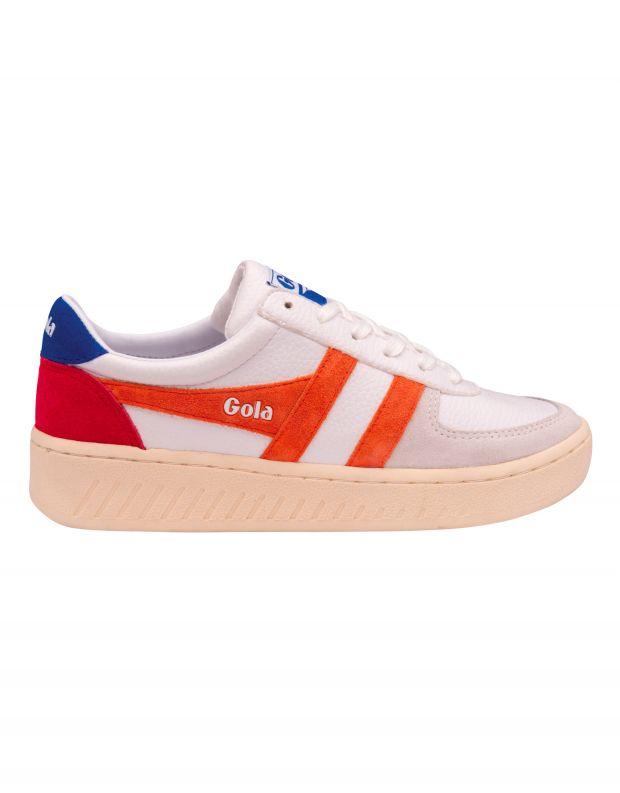נעלי נשים - Gola - סניקרס GRANDSLAM TRIDENT - לבן   כתום
