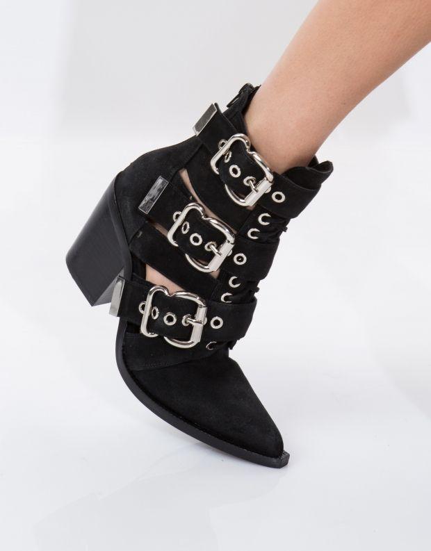 נעלי נשים - Jeffrey Campbell - מגפון CACERES - שחור