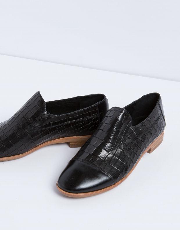 נעלי נשים - Jeffrey Campbell - נעל BARKLEY CROCO - שחור