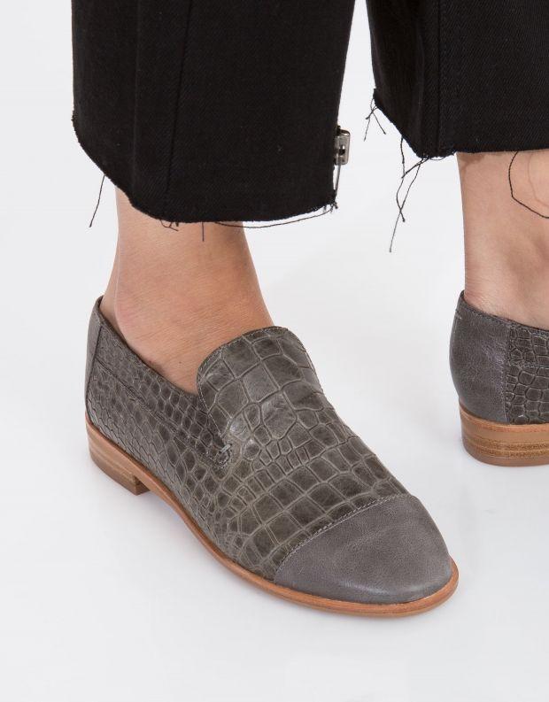 נעלי נשים - Jeffrey Campbell - נעל BARKLEY CROCO - אפור