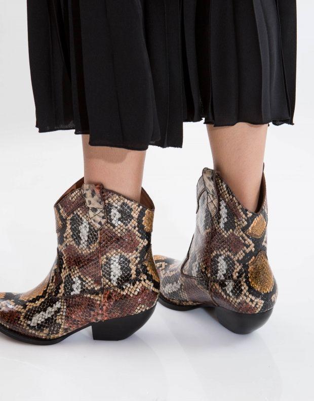 נעלי נשים - Jeffrey Campbell - מגפון CALVERA - חום   שחור