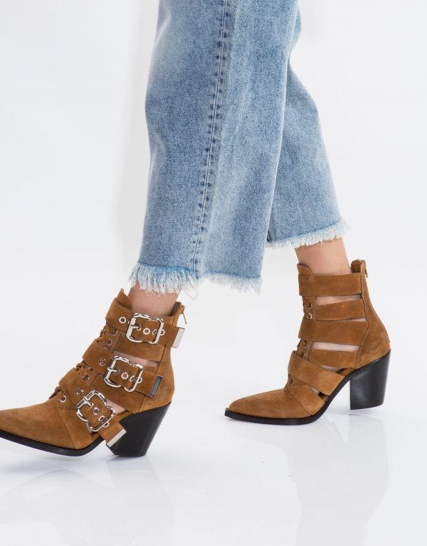 נעלי נשים - Jeffrey Campbell - מגפון CACERES - קאמל