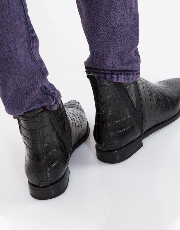 נעלי נשים - Jeffrey Campbell - מגפון HARVELL - שחור קרוקו
