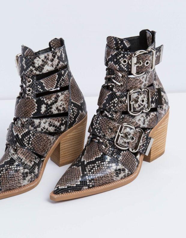 נעלי נשים - Jeffrey Campbell - מגפון CACERES - חום נחש