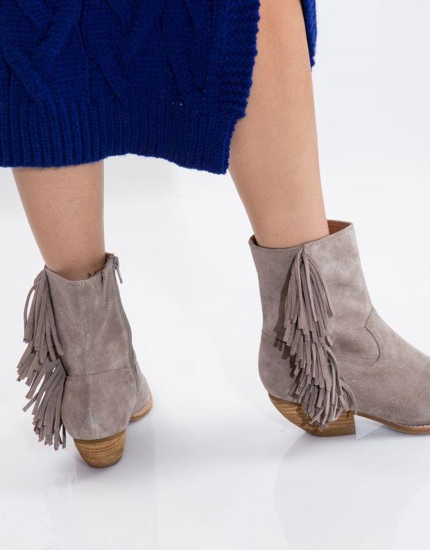 נעלי נשים - Jeffrey Campbell - מגפון HASTINGS - אפור