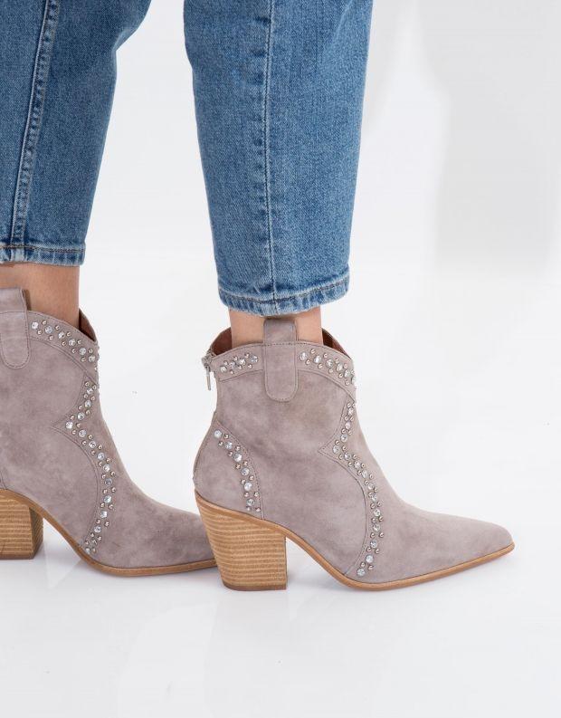נעלי נשים - Jeffrey Campbell - מגפון NIGHTWING - אפור