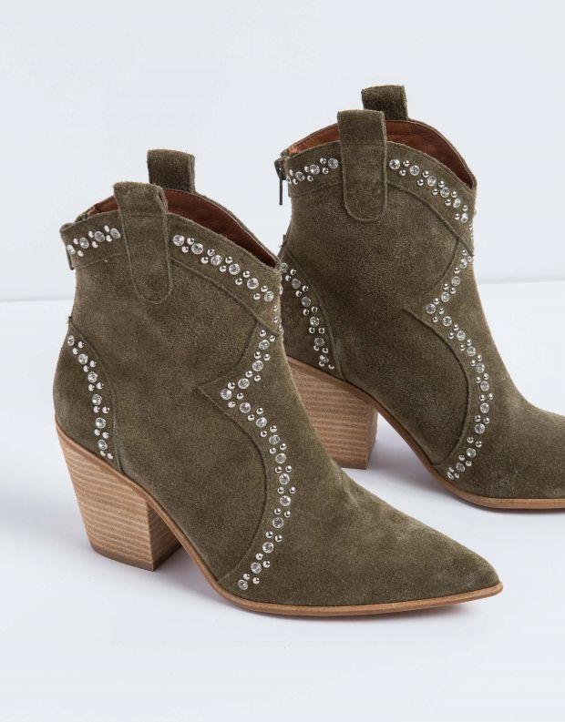 נעלי נשים - Jeffrey Campbell - מגפון NIGHTWING - חאקי