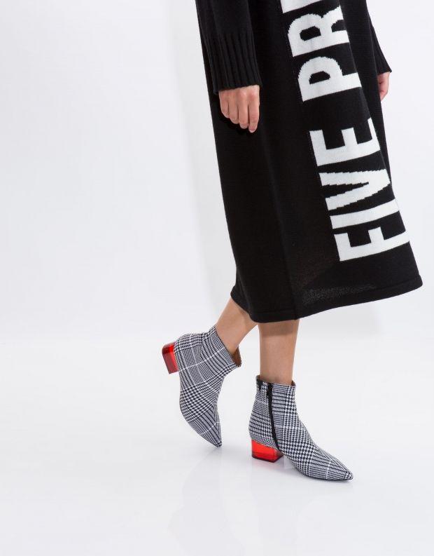 נעלי נשים - Jeffrey Campbell - מגפון LUMINATE בד - שחור לבן