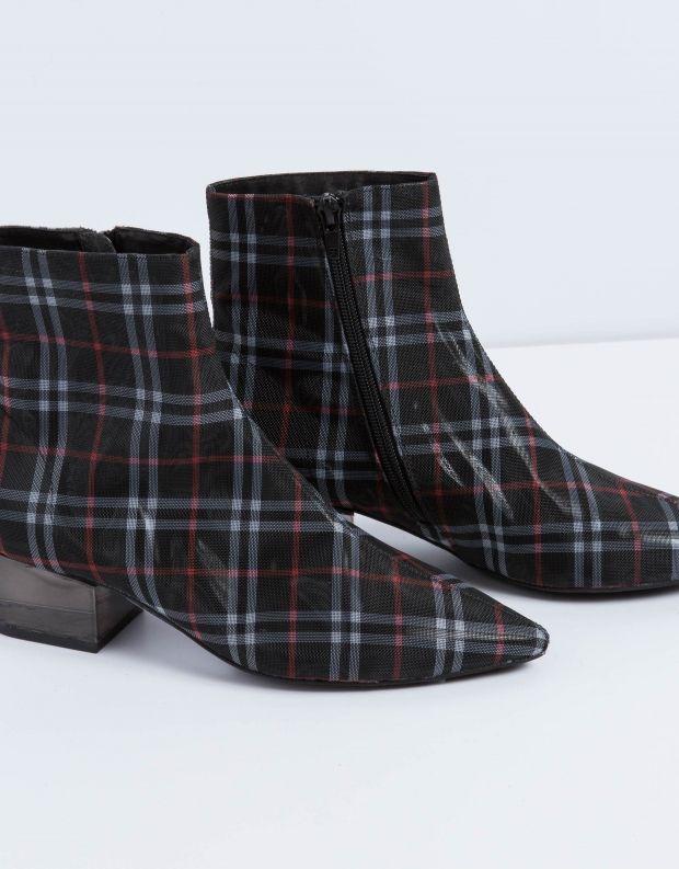 נעלי נשים - Jeffrey Campbell - מגפון LUMINATE בד - שחור אפור