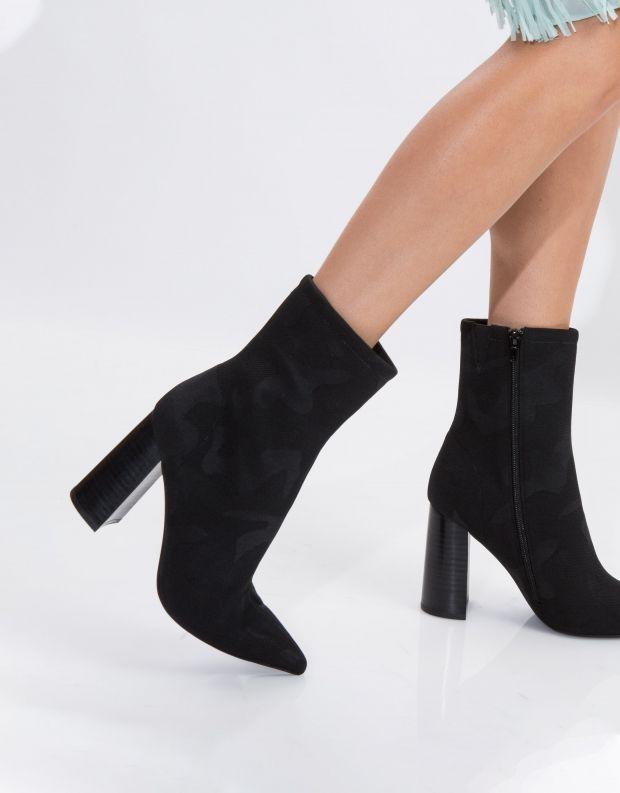 נעלי נשים - Jeffrey Campbell - מגפון SIREN - שחור