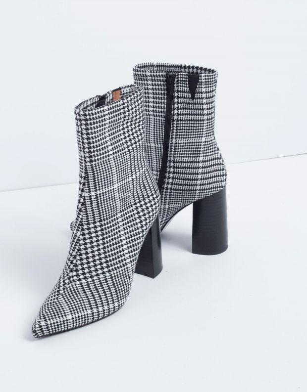 נעלי נשים - Jeffrey Campbell - מגפון SIREN - משבצות