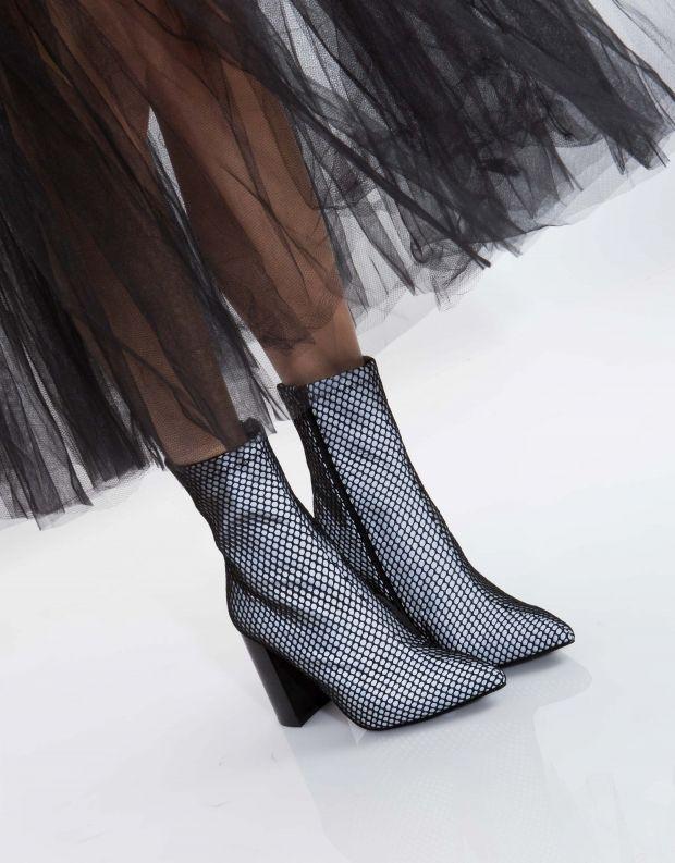 נעלי נשים - Jeffrey Campbell - מגפון SIREN - אפור   שחור