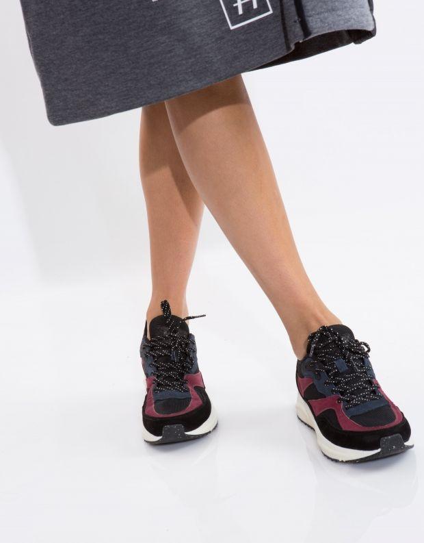 נעלי נשים - Woden - סניקרס SOPHIE NUBUCK - שחור כחול