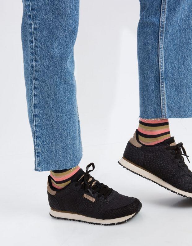 נעלי נשים - Woden - סניקרס YDUN CROCO - שחור
