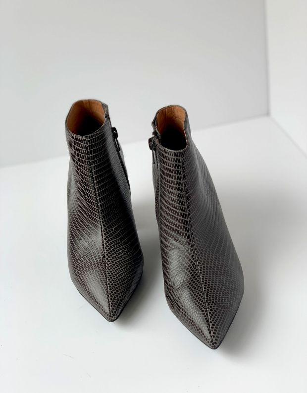 נעלי נשים - Jeffrey Campbell - מגפון TOTAL עור - אפור