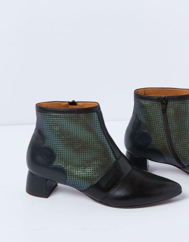 נעלי נשים - Chie Mihara - מגפון ROSI - שחור ירוק