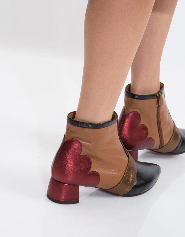 נעלי נשים - Chie Mihara - מגפון ROSI - שחור   ברונזה
