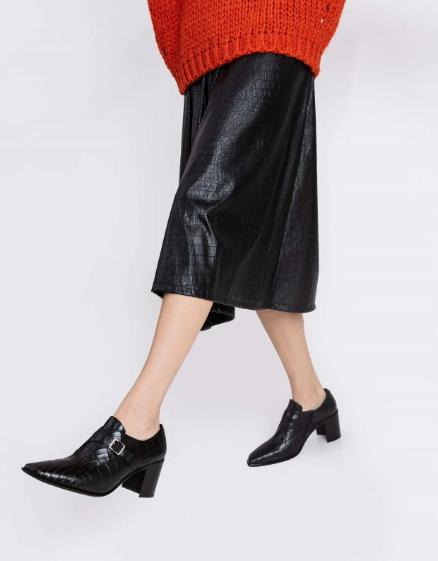 נעלי נשים - Jeffrey Campbell - נעלי ARNAU CROCO - שחור קרוקו
