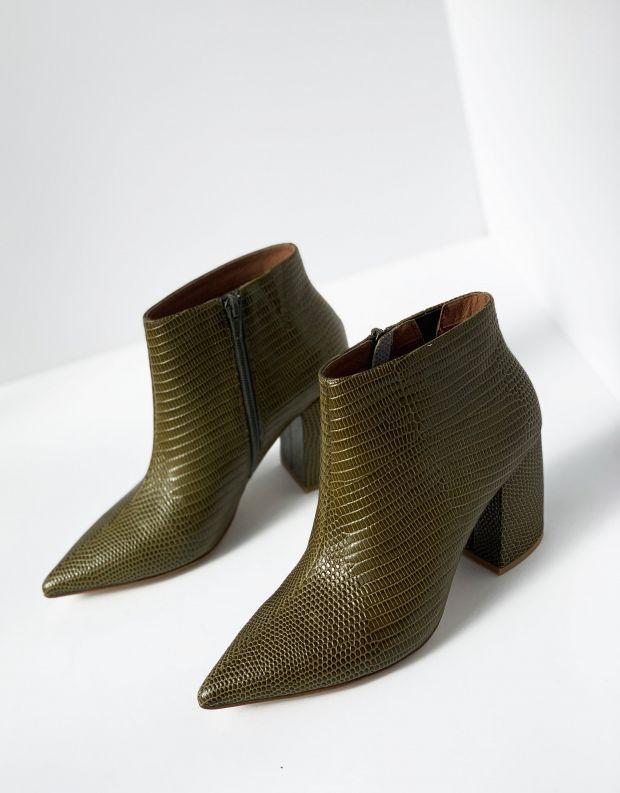 נעלי נשים - Jeffrey Campbell - מגפון TOTAL עור - חאקי