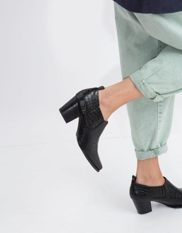 נעלי נשים - SOL SANA - נעל CLIO CROCO - שחור קרוקו