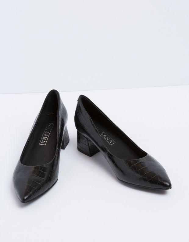 נעלי נשים - SOL SANA - סירה JADE - שחור קרוקו