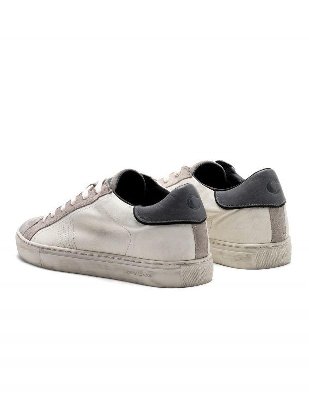 נעלי גברים - Crime London - סניקרס BEAT - לבן   אפור