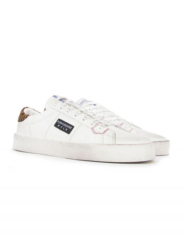 נעלי נשים - PlayGround - סניקרס PLAYFLIPS - לבן