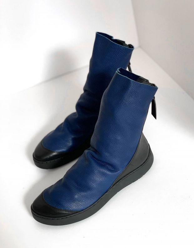 נעלי נשים - Trippen - מגפון SHOVEL SWAN - כחול