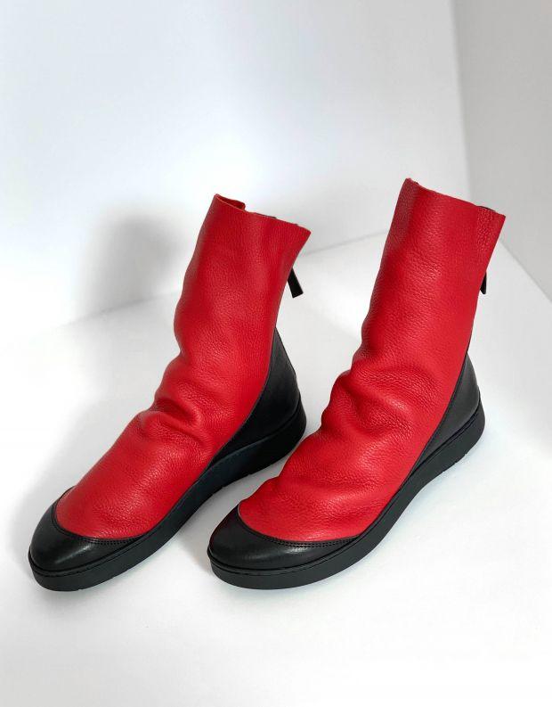 נעלי נשים - Trippen - מגפון SHOVEL SWAN - אדום