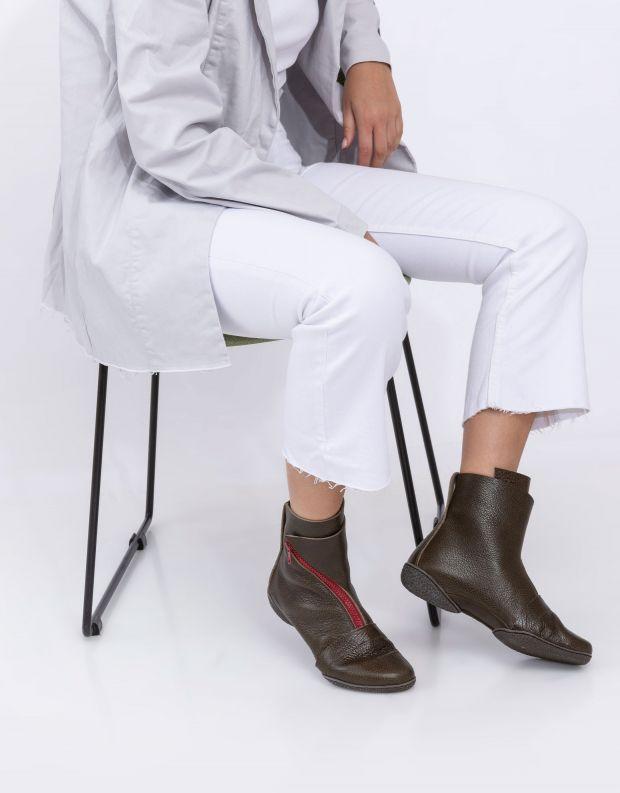 נעלי נשים - Trippen - מגפונים BERLIN CUP צבעוני - חום   אדום