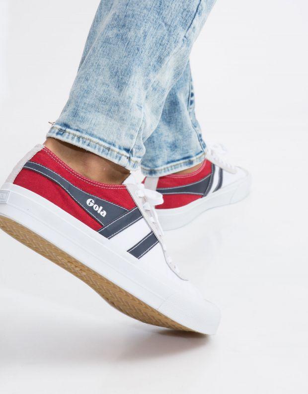 נעלי גברים - Gola - סניקרס QUOTA II RWB - לבן   אדום