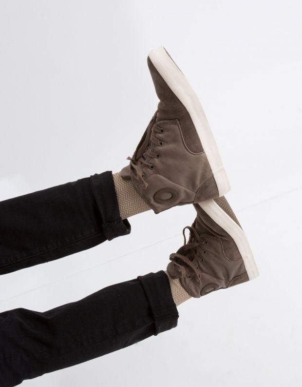 נעלי גברים - Aro - סניקרס גבוה NORMAN - חום בהיר