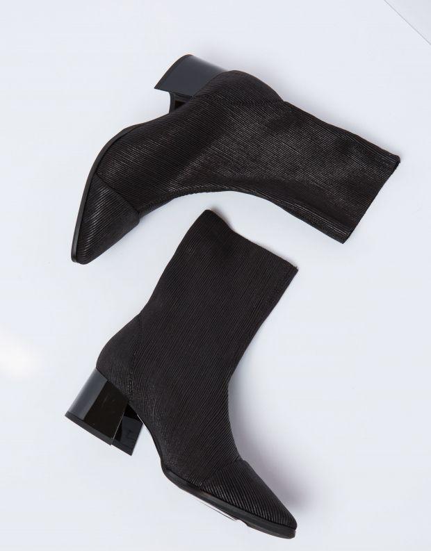נעלי נשים - NR Rapisardi - מגפון PEPITA פסים מטאלי - שחור מיוחד