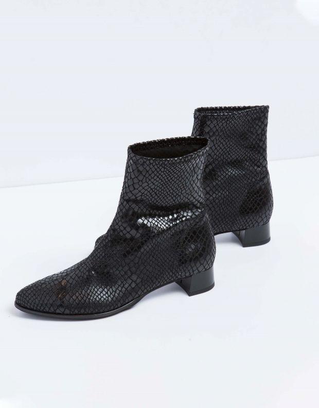 נעלי נשים - NR Rapisardi - מגפון נחש TESS - שחור נחש