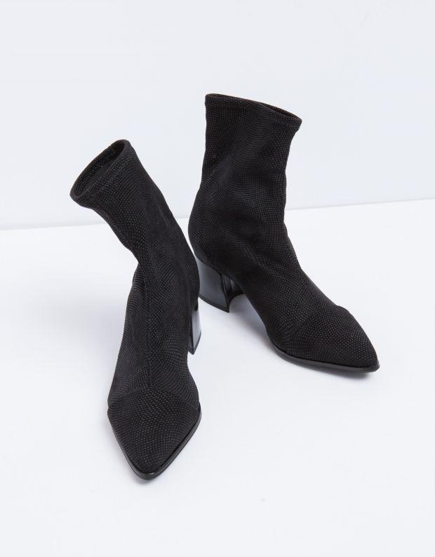 נעלי נשים - NR Rapisardi - מגפון PEPITA קוויאר - שחור מיוחד