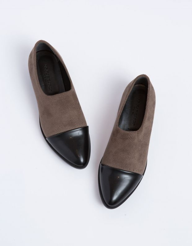 נעלי נשים - NR Rapisardi - נעל EMMA - חום   שחור