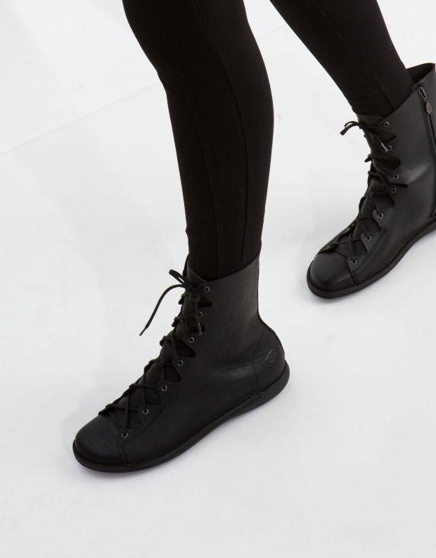 נעלי נשים - loints of Holland - מגף NATURAL שרוך - שחור