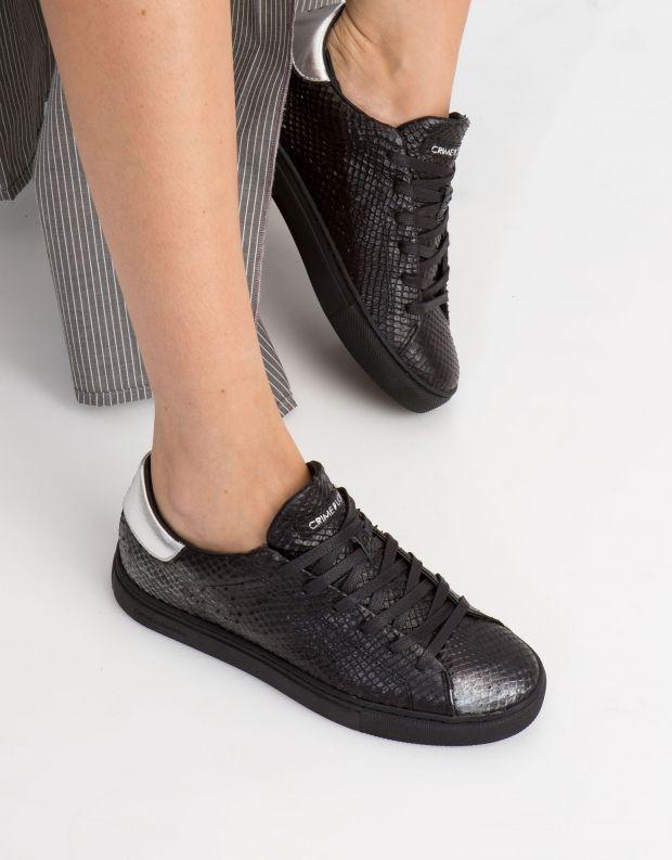 נעלי נשים - Crime London - סניקרס BEAT נחש - שחור