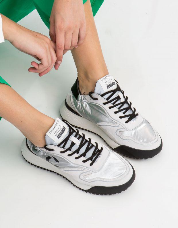 נעלי נשים - Crime London - סניקרס CONDOR - כסף