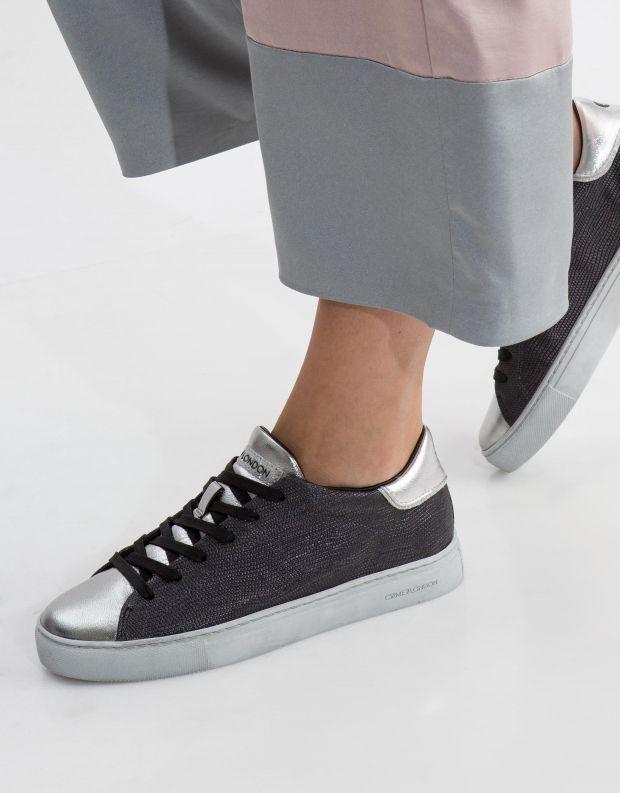 נעלי נשים - Crime London - סניקרס BEAT טקסטורה - כחול   כסף