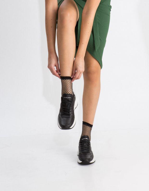 נעלי נשים - Crime London - סניקרס MAGNETIC נחש - שחור