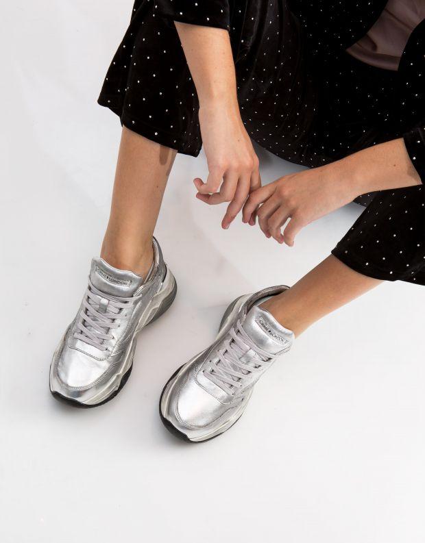 נעלי נשים - Crime London - סניקרס MERCER - כסף