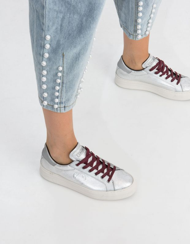 נעלי נשים - Crime London - סניקרס SONIC - כסף
