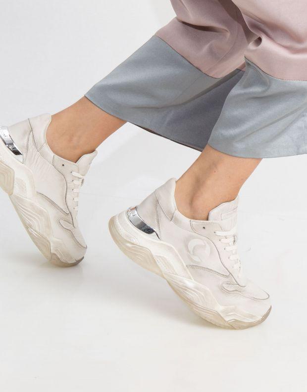 נעלי נשים - Crime London - סניקרס MERCER - לבן